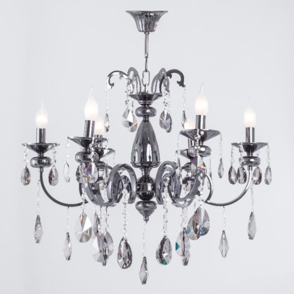 Alicia Black Nickel 6 Lights Chandelier