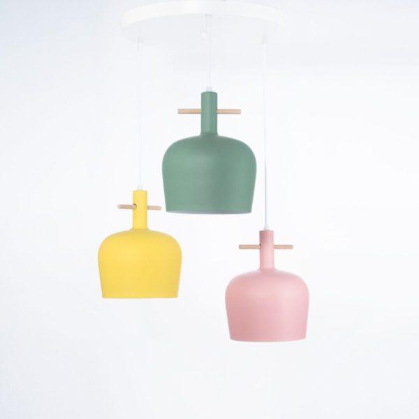 معلقة ميجان 3 لمبة ألوان متعددة