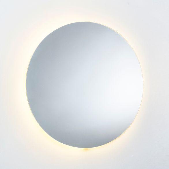 مراية مسطحة دائرية بضوء أصفر