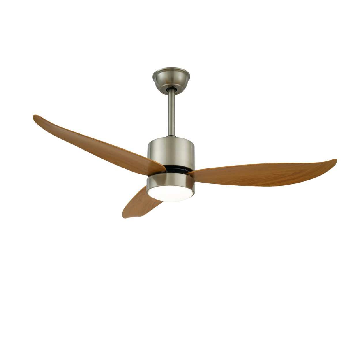 Curved 48 Inch Wooden Brown Ceiling Fan